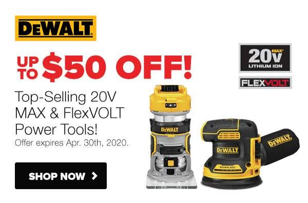 Up to $50 Off Select DeWALT Cordless Tools