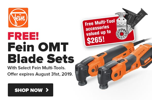 Up to $265 in FREE Fein multi-tool blades