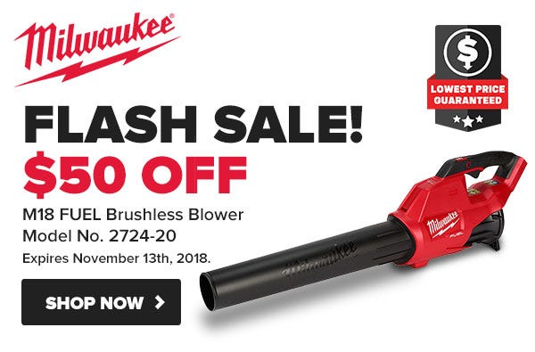 Milwaukee FLASH SALE - 5 Days Only!  Black Friday