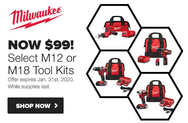 Milwaukee Drill or Impact Driver Kits Only $99