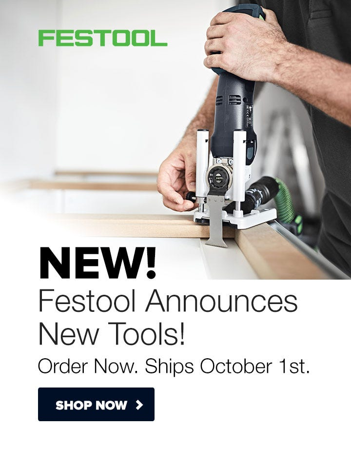NEW! Festool Tools Coming October 2019