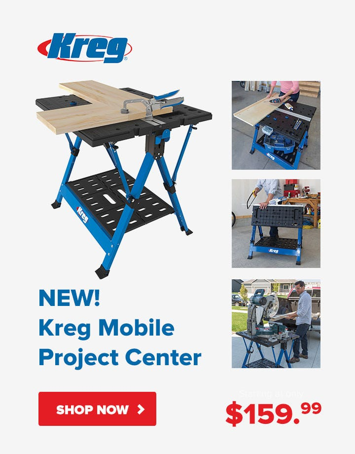 New! Kreg Mobile Project Center