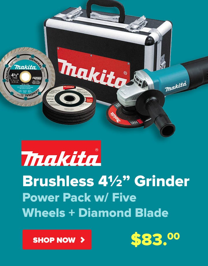 Makita Brushless Grinder - Only $83