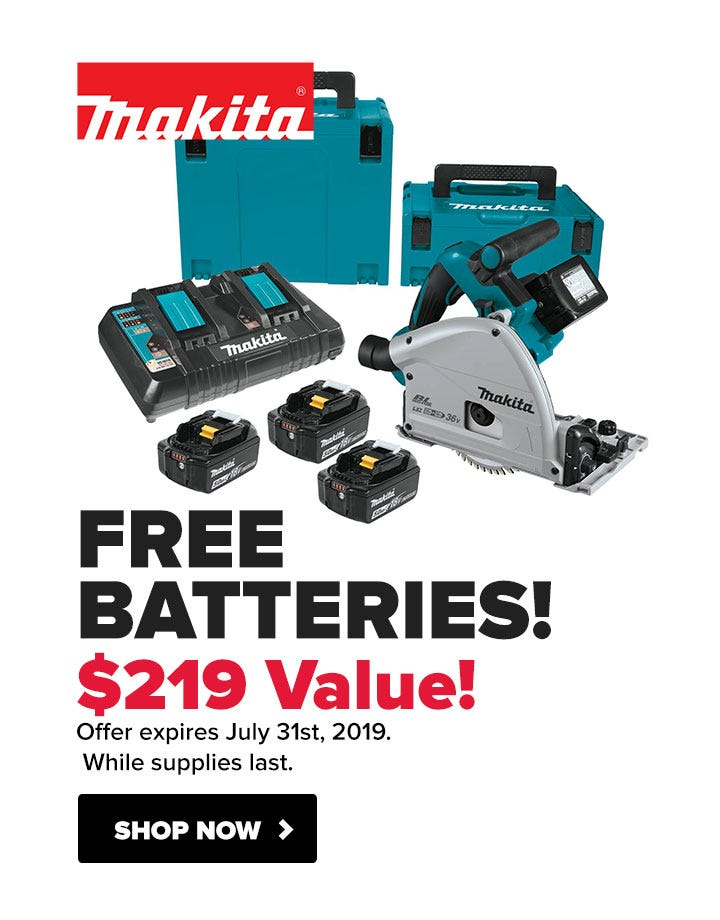 Makita FREE Batteries with Circular Saw Kit