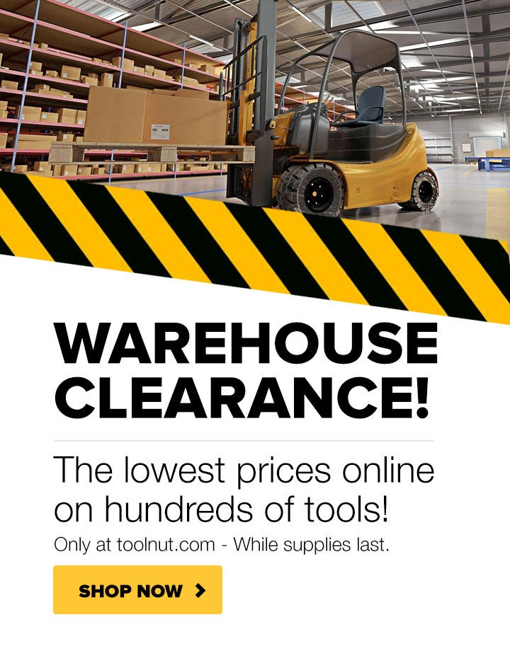 Tool Nut Warehouse Clearance Sale